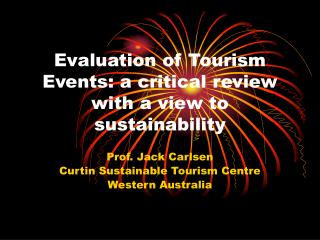 Evaluation of Tourism Events: a critical review with a view to sustainability