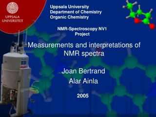 Measurements and interpretations of NMR spectra