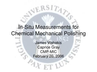 In-Situ Measurements for Chemical Mechanical Polishing