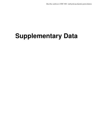 Supplementary Data