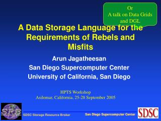 A Data Storage Language for the Requirements of Rebels and Misfits