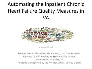 Automating the Inpatient Chronic Heart Failure Quality Measures in VA