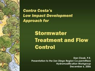 Stormwater Treatment and Flow Control