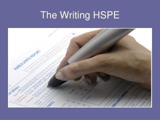 The Writing HSPE