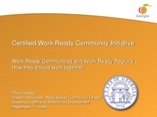 Certified Work Ready Community Initiative