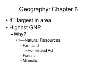 Geography: Chapter 6