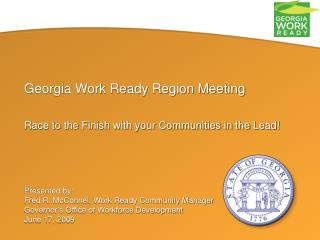 Georgia Work Ready Region Meeting