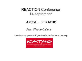 REACTION Conference 14 september