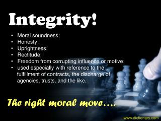 Integrity!