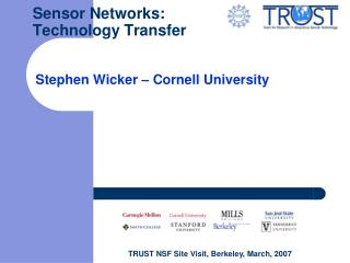 Sensor Networks: Technology Transfer