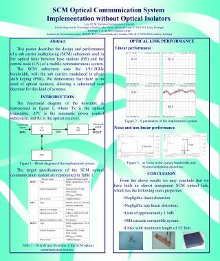 SCM Optical Communication System Implementation without Optical Isolators