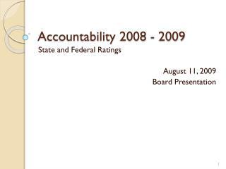 Accountability 2008 - 2009