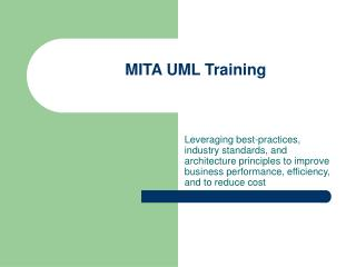 MITA UML Training