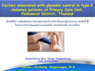 Factors associated with glycemic control in type 2 diabetes patients at Primary Care Unit,