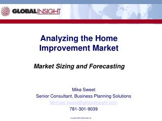 Analyzing the Home Improvement Market  Market Sizing and Forecasting