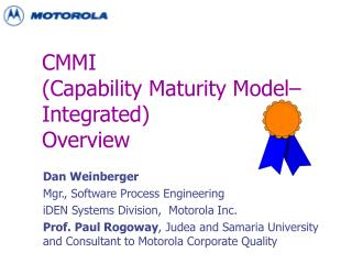 CMMI  Capability Maturity Model Integrated Overview