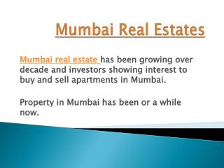 Mumbai Real Estates