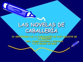 LAS NOVELAS DE CABALLERÍA