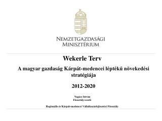 Wekerle Terv