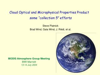Cloud Optical and Microphysical Properties Product