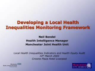 Developing a Local Health Inequalities Monitoring Framework
