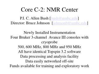 Core C-2: NMR Center