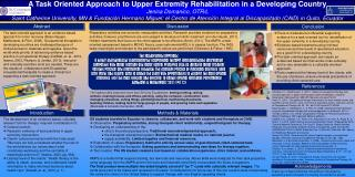 A Task Oriented Approach to Upper Extremity Rehabilitation in a Developing Country