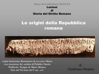 Le origini della Repubblica romana