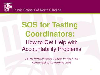 SOS for Testing Coordinators: