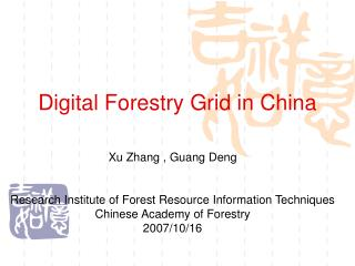 Digital Forestry Grid in China