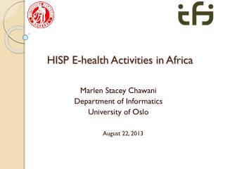 HISP E-health Activities in Africa