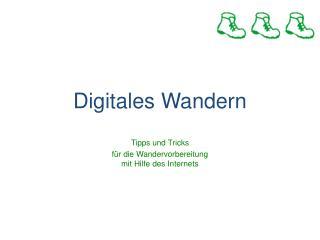 Digitales Wandern