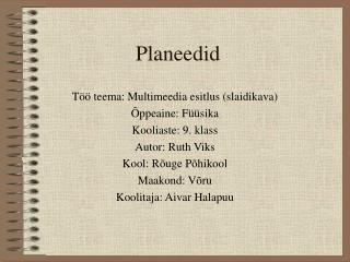 Planeedid