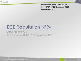 ECE Regulation N°94