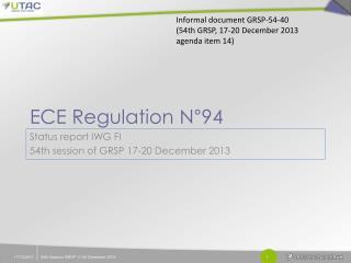ECE Regulation N°94