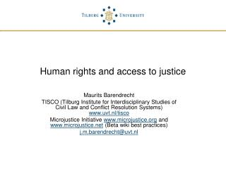 Human rights and access to justice