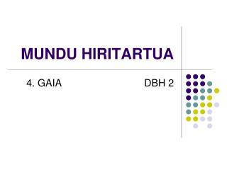 MUNDU HIRITARTUA