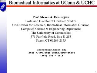 Biomedical Informatics at UConn & UCHC