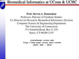 Biomedical Informatics at UConn & UCHC
