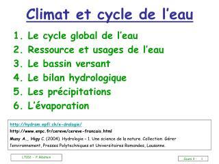 Climat et cycle de l'eau