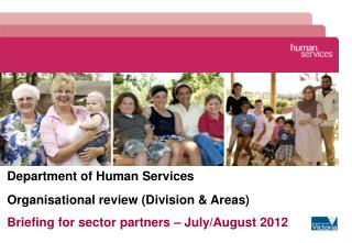 Department of Human Services Organisational review (Division & Areas)