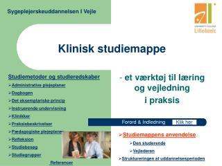 Klinisk studiemappe