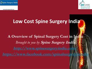 Low Cost Spine Surgery India