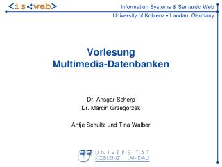 Vorlesung Multimedia-Datenbanken