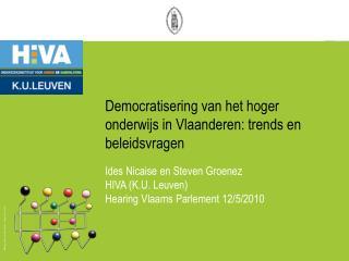 Democratisering van het hoger onderwijs in Vlaanderen: trends en beleidsvragen
