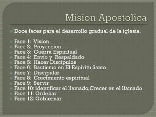 Mision Apostolica