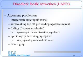 Draadloze locale netwerken (LAN's)