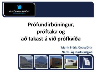 Prófundirbúningur,  próftaka og  að takast á við prófkvíða