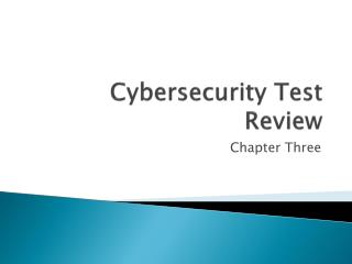 Cybersecurity  Test Review