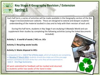 Key Stage 4 Geography Revision / Extension Spring 1